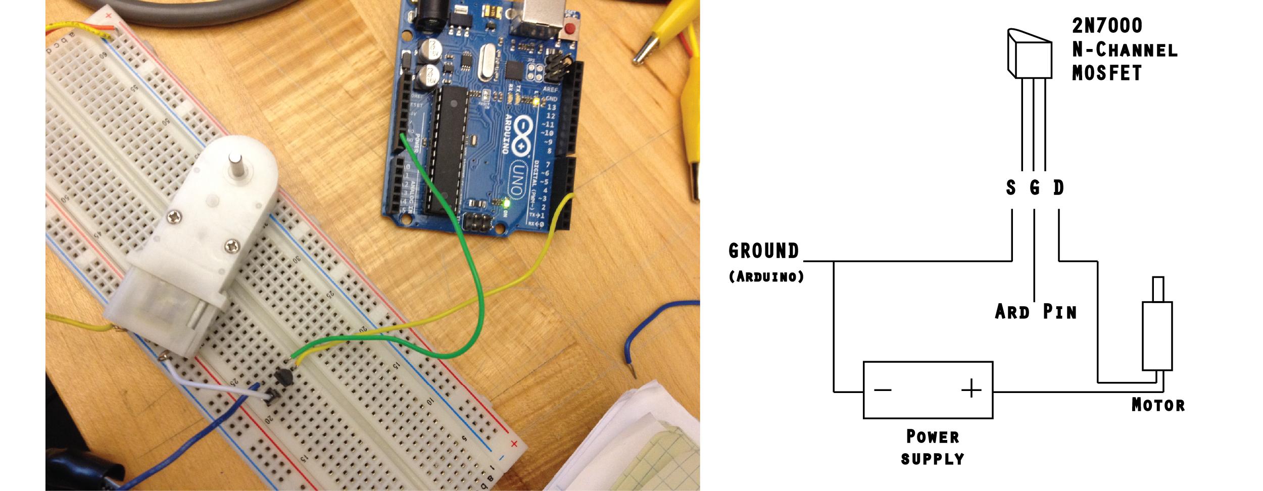 Making Things Interactive Pvirasat House Wiring Diagram Motor Circuit With 2n7000